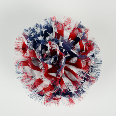 American Flag Bow Two Way for Hair or Brooch
