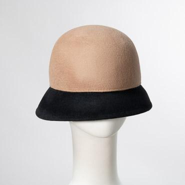 Petite/Smal Beige Brown Velour Cloche Women's Hats